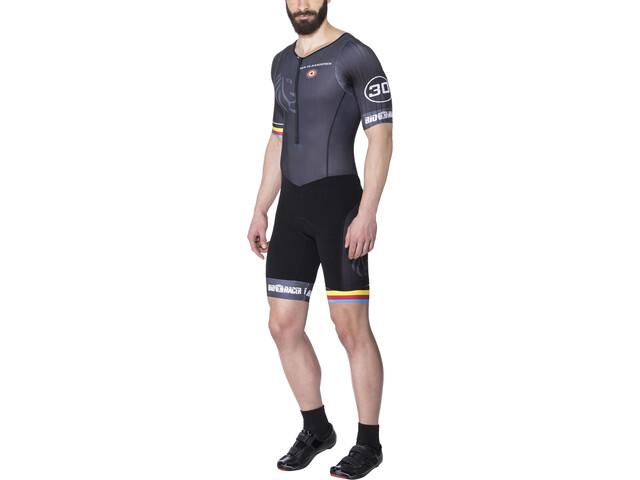 Bioracer Van Vlaanderen Strój triathlonowy z krótkim rękawem Mężczyźni, black